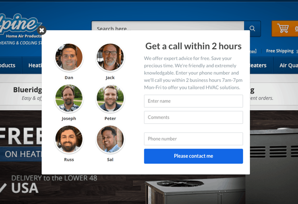 customer service visuals, image example