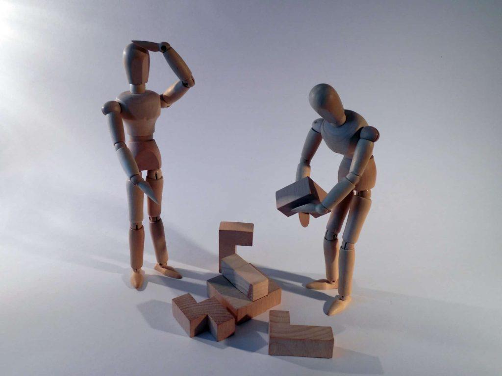 users segmentation, wooden figures example