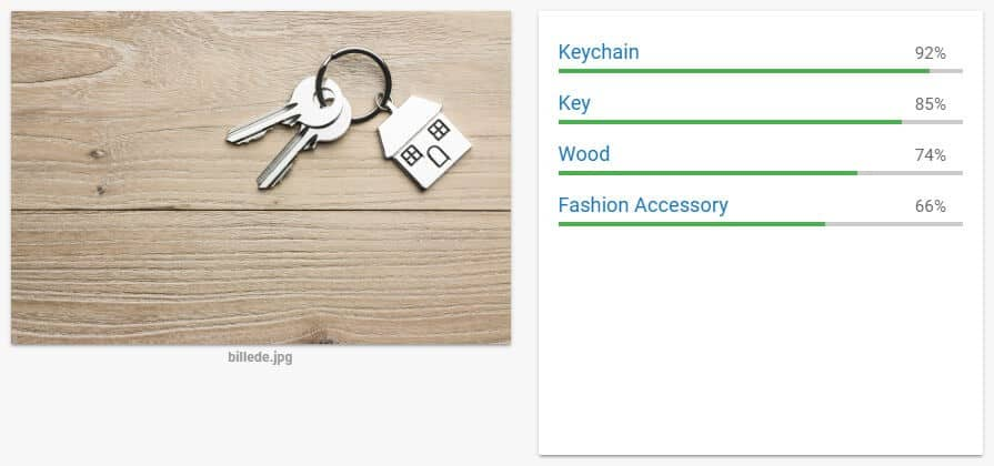 cloud google vision, keychain example