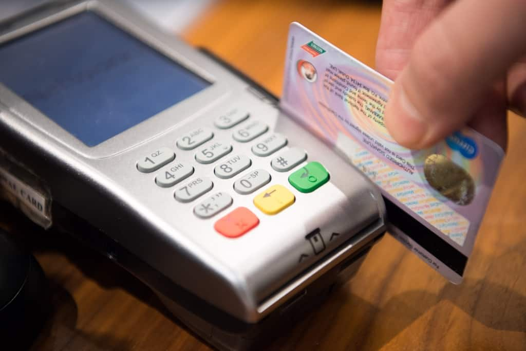 credit card, paying example