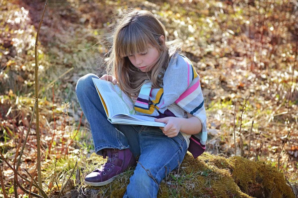 reading, girl and book