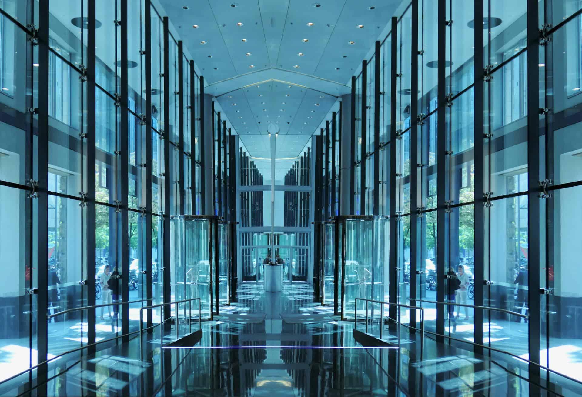 futuristic large building