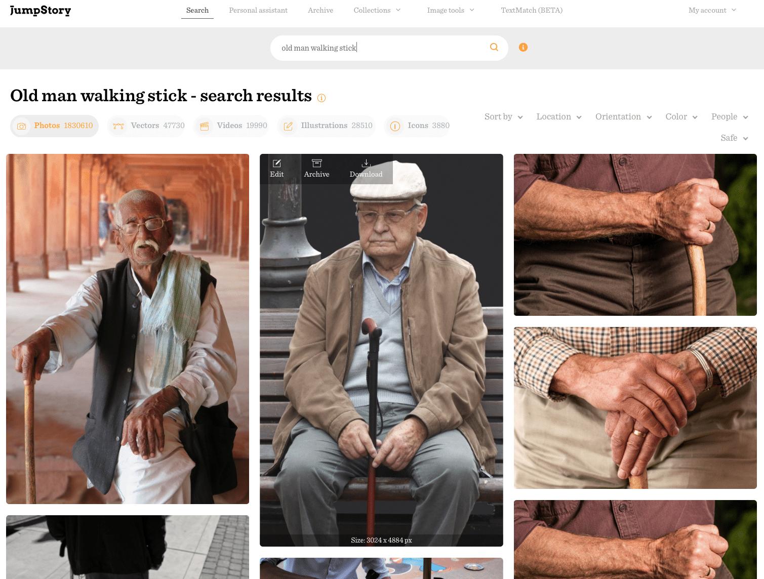 old man stick
