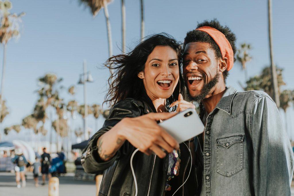 people taking a selfie