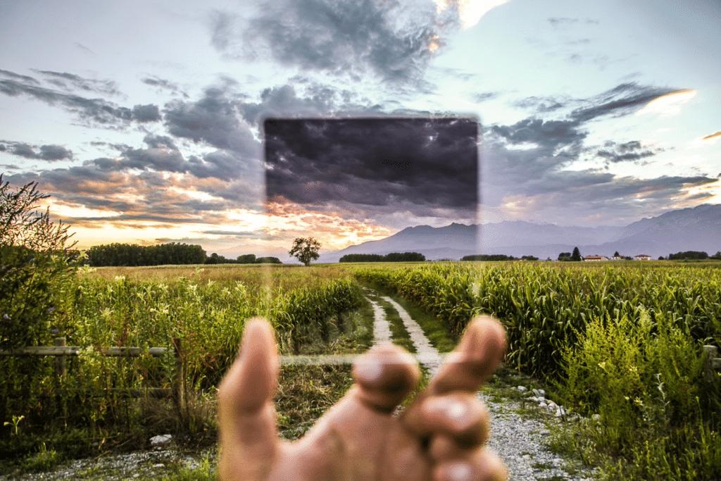 Hand grabbing a glass