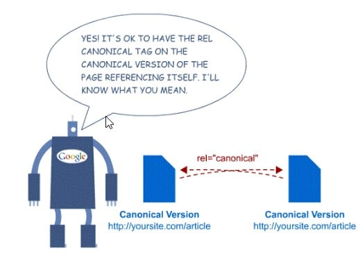 canonical version of a website infographic