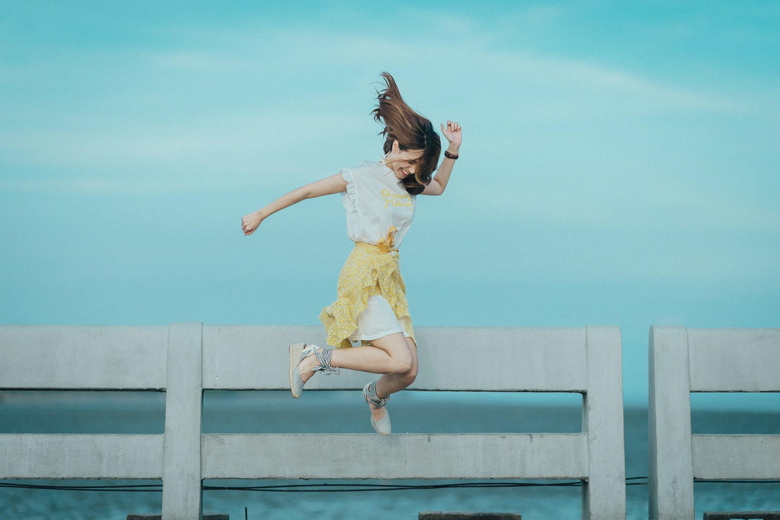 woman jumping