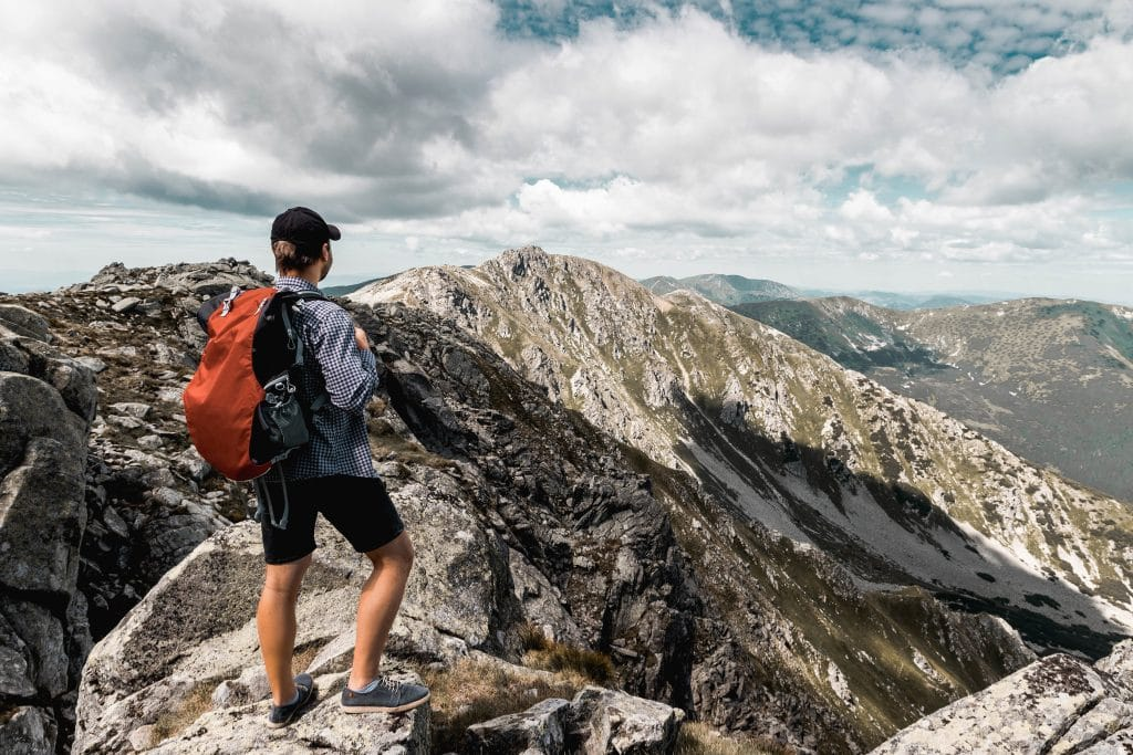 Man on a Mountain top