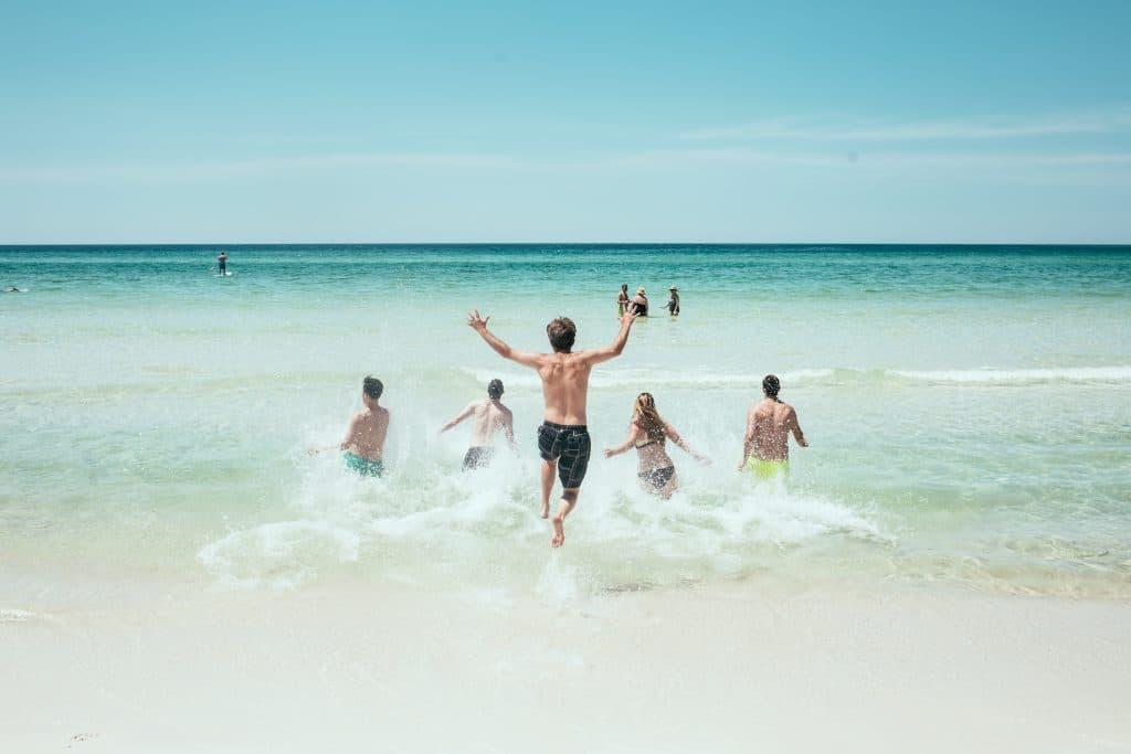 Cross discipline people in the beach