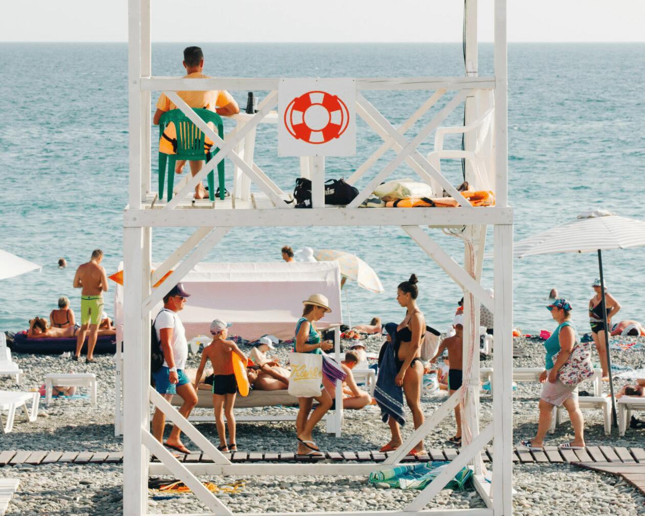 Lifeguard overseeing the beach