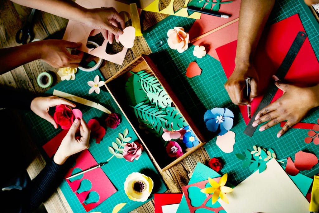 people doing crafts
